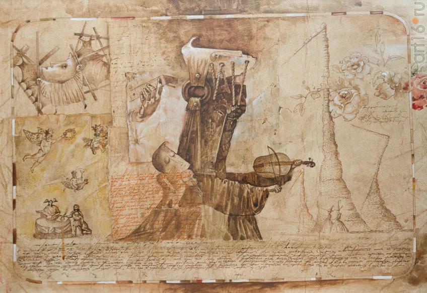 Фото №919271. Алексеи ГРИГОРЬЕВ Архангельск. 1956. «Скрипач» из серии «Обрывки мыслей», 2006