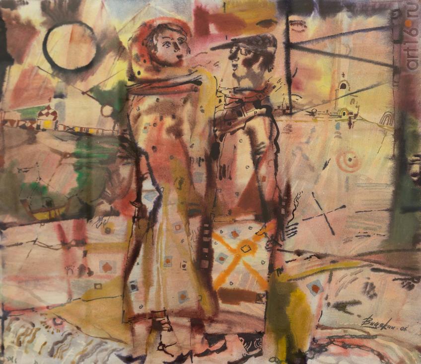 Фото №919291. Всеволод Видякин, Архангельск, 1948. «Муза», 2006, бум., акв., 61х71