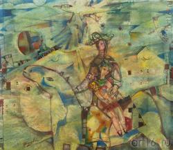 Всеволод ВИДЯКИН, Архангельск, 1948. «Визит», 2006, бум. акв., 61x71