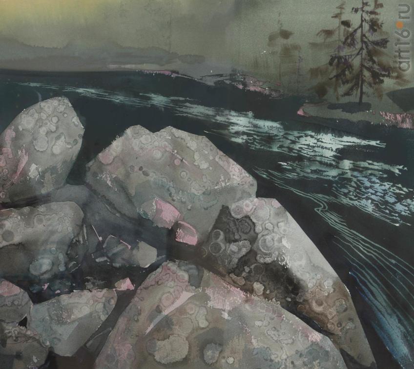 Фото №919306. Юрий ЛОМКОВ, Северодвинск, 1951. «Карельские сказы», 2014, бум, акв., 51x56