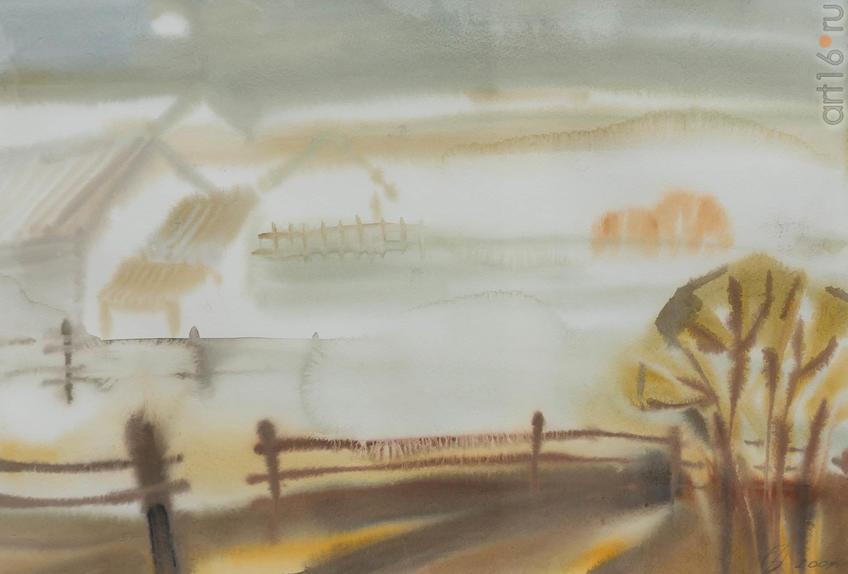 Фото №919326. Ольга ПОПОВА, Архангельск, 1973. «Ижма», 2011, бум. акв. 29,5x43