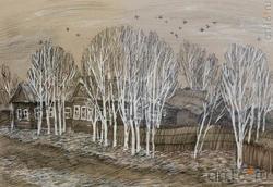 Мария ЗАВЕРНИНА, Архангельск, 1975. «Первый снег», 2010, тушь, перо, 28x41