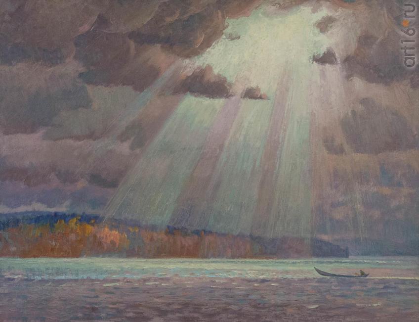 Фото №919346. Рашид САГАДЕЕВ, Архангельск, 1960. «На Северной Двине», 2015, орг.м, 62,5x80