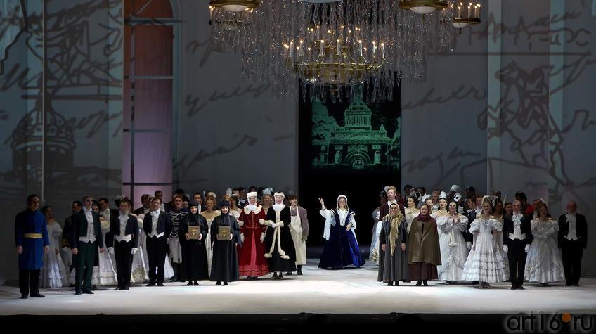 Фото №91968. Седьмая картина. Финал оперы  П.И.Чайковского ''Евгений Онегин''