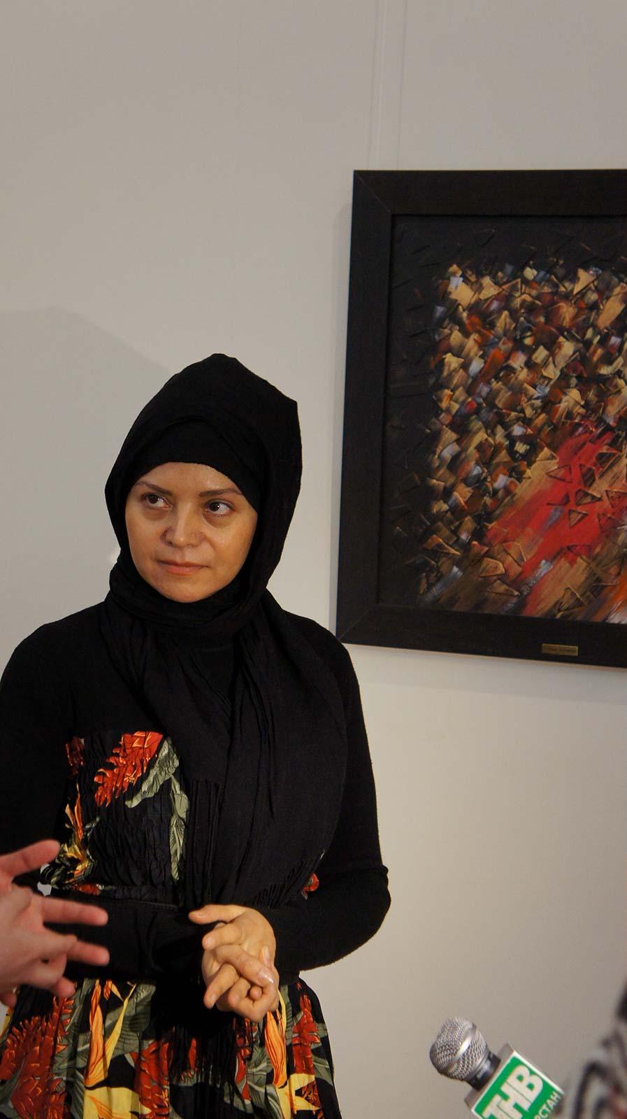 Фото №92131. Фарназ Джаханбин , каллиграф-живописец