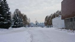 Дорога к памятнику «Борцам революции» от Музея-диорамы в Мотовилихе