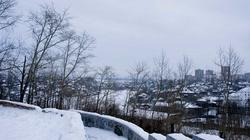Вид на город с террасы г.Вышка