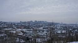 Вид на  город с горы Вышка. Пермь, январь 2011
