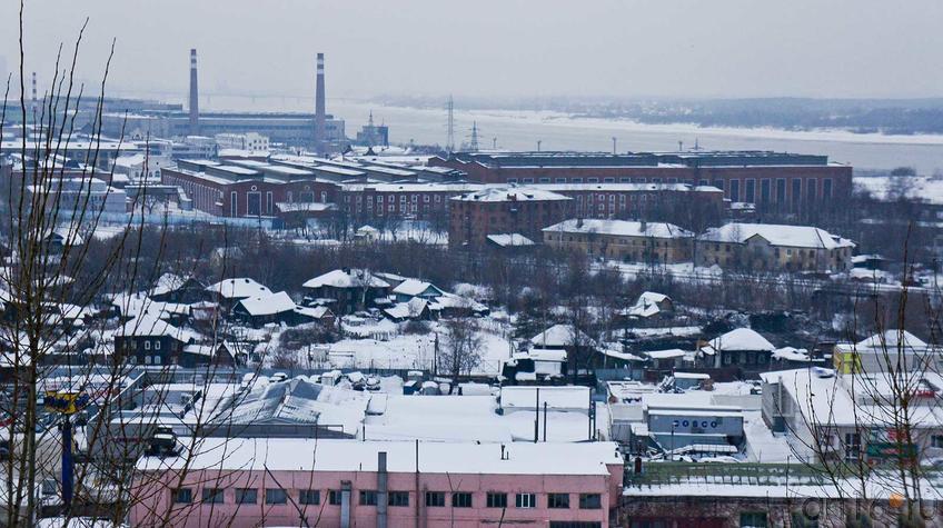 Фото №92263. Вид сверху на Мотовилихинский завод. Февраль 2012