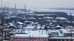 Вид сверху на Мотовилихинский завод. Февраль 2012