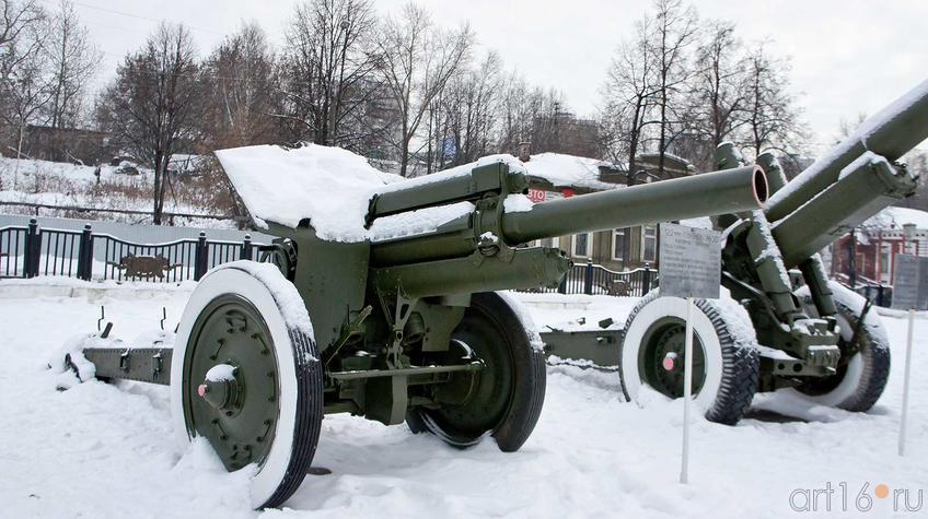 Фото №92328. 76 мм полковая пушка мз-2, год выпуска опытного образца 1944