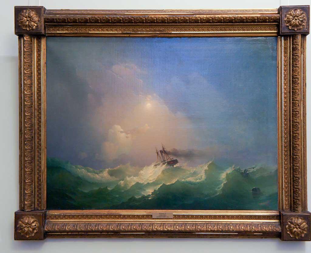 Фото №92581. Корабль в бурю. 1848. Дорогов А.М. (1819-1850)