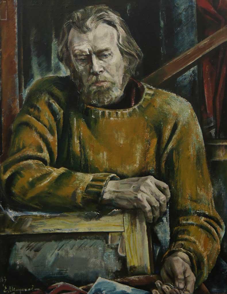 Фото №92773. Автопортрет 1983. Евгений Широков, Народный художник СССР