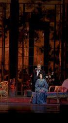 Действие второе, сцена первая. Жорж Жеомон, отец Альфреда требует разрыва отношений Виолетты с его сыном