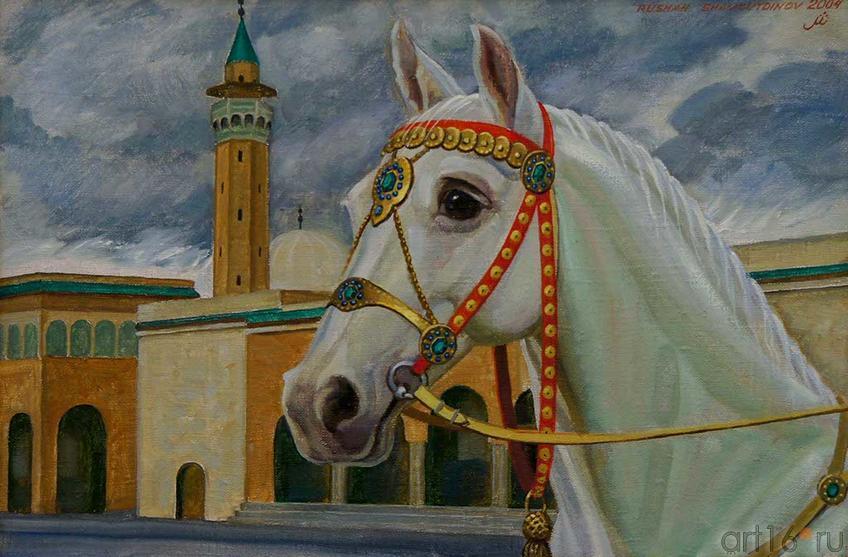 Фото №93047. Тунис. Г. Монастир. Голова арабской лошади. 2004. Рушан Шмсутдинов