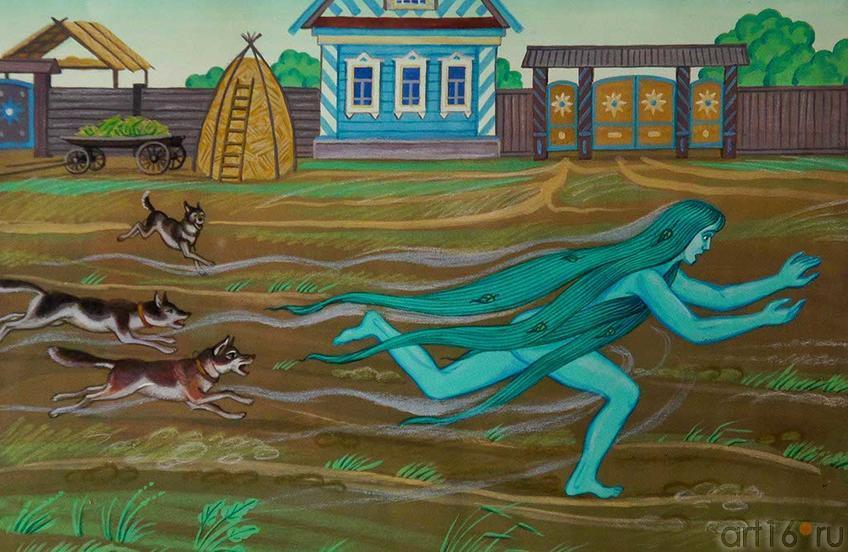 Фото №93067. Габдулла Тукай. Су Анасы. Водяная. Иллюстрация. 2010. Рушан Шамсутдинов