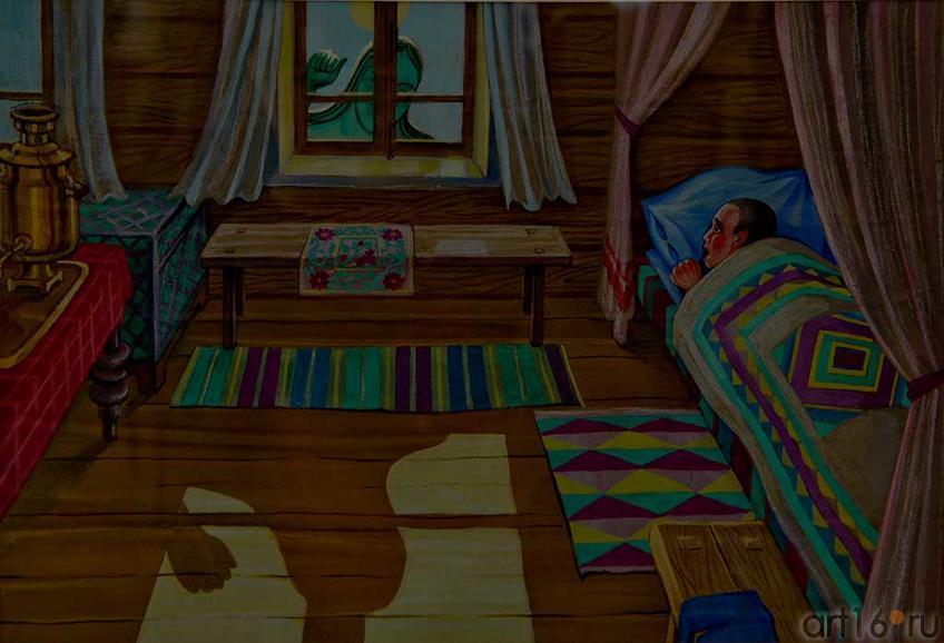 Габдулла Тукай. Су Анасы. Водяная. Иллюстрация. 2010. Рушан Шамсутдинов