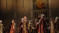 Пролог. Картина вторая. Собравшийся в Кремле перед Успенским собором народ славит Бориса
