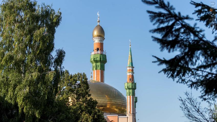 Фото №934014. Минареты мечети им. Р.Г. Галеева в Альметьевске