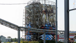 Резервуар котельной АПТС на улицах Нефтяников и Гафиатуллина