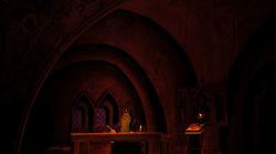 Действие первое, картина первая. В келье Чудова монастыря старец Пимен пишет летопись