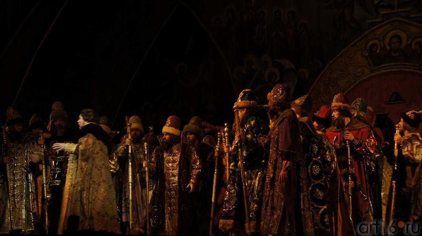 """Действие третье, картина 2. Боярская дума в Грановитой палате Кремля.::Модест Мусоргский """"Борис Годунов"""""""
