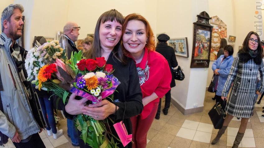 Фото №934938. Елена Титова, Анастасия Бузунеева. Открытие выставки ''Она''