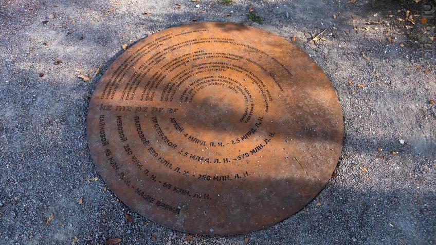 Фрагмент геолого-палеонтологической экспозиции МЗ ʺДивногорьеʺ::Дивногорье. 2017 сентябрь