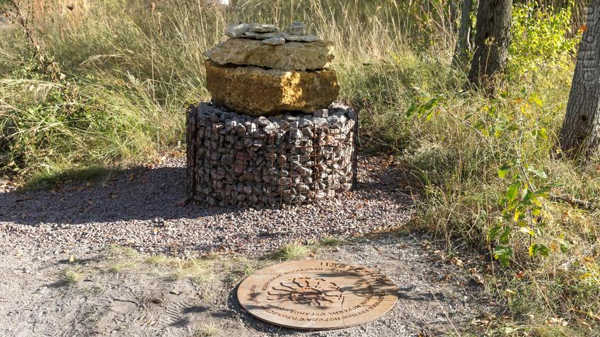Фрагмент геолого-палеонтологической экспозиции МЗ ʺДивногорьеʺ - Известняк::Дивногорье. 2017 сентябрь