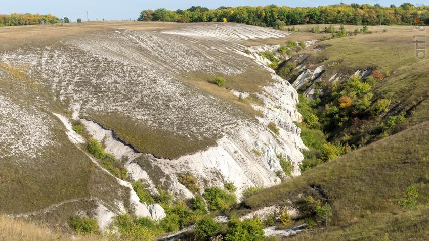 Меловой каньон Дивногорья::Дивногорье. 2017 сентябрь