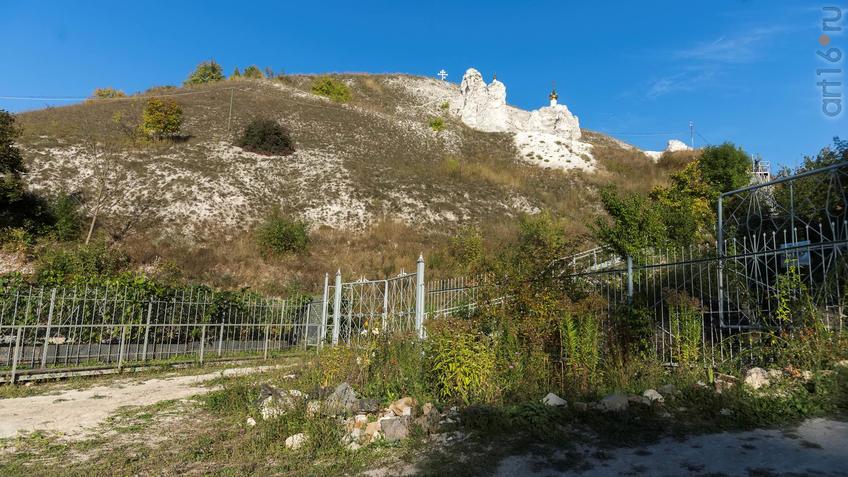 Вид  из-за ограды монастыря на Малые Дивы::Дивногорье. 2017 сентябрь