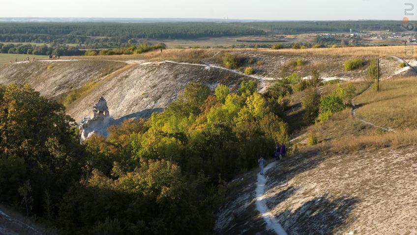Вид сверху на Малые Дивы::Дивногорье. 2017 сентябрь