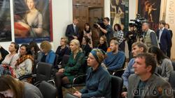 Пресс-конференция перед открытием выставки ''Под прозрачным льдом глазури''