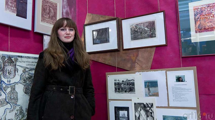 Фото №93662. Карасева Вера, участница неформального творческого объединения ''Графком''