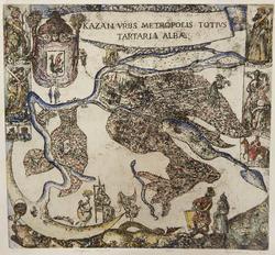 Карта Казани. Ю. Бердников. Офорт