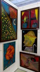 Экспозиция работ Р. Шмидта