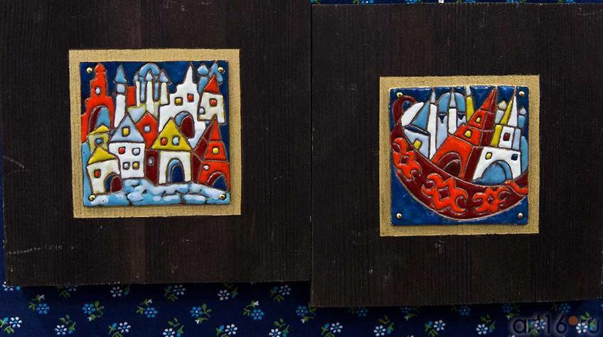 Эмаль на меди. Выставочная площадка ʺСиней птицыʺ::Арт-галерея, Казань — 2012