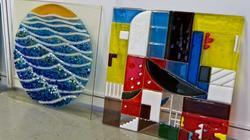 Панно из цветного стекла. Камиль Акманов (Бугульма)