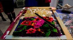 Сибирский ковер.  Образец выполнен учеником художественной школы г. Тюмени