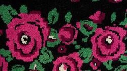 Розы на черном. Сибирский ковер. Махровое ткачество. Тюмень