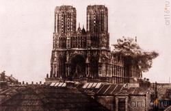 Собор в Реймсе во время Первой мировой войны