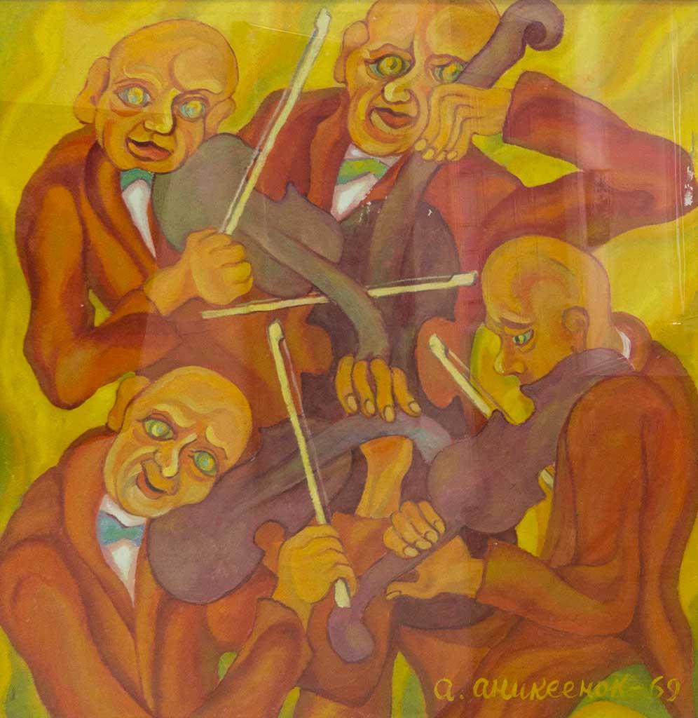 Фото №94025. Четыре музыканта. 1968  Аникеенок А.А. 1925-1984