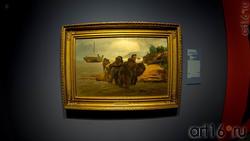 Илья Ефимович Репин. Бурлаки идущие вброд. 1872