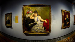 И.Е.Репин. Портрет С.И.Ментер.  1887