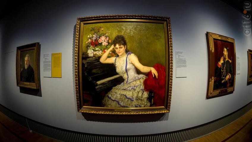 Фото №943521. И.Е.Репин. Портрет С.И.Ментер. 1887