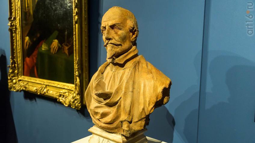 Фото №946703. Мастерская Антонио Раджи портрет АНТОНИО, Терракота (с мраморным подножием) Кат. № 201