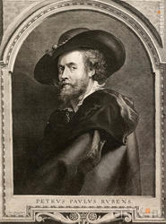 Пауль Понтиус 1603, Антверпен - 1658,там же АВТОПОРТРЕТ ПИТЕРА ПАУЛЯ РУБЕНСА 1630