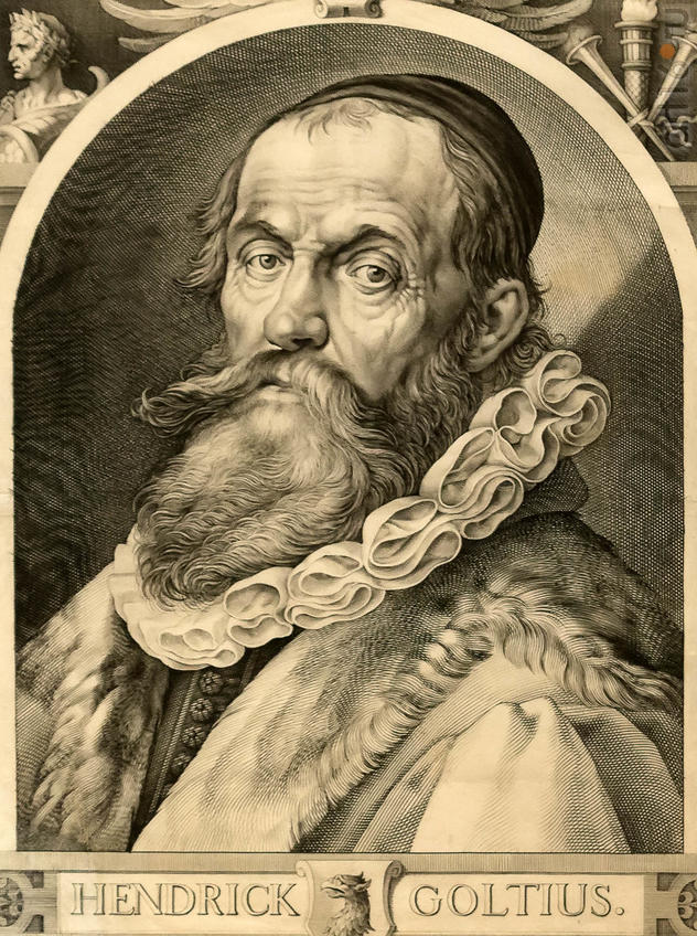 Якоб Матам 1571, Харлем - 1651, там же АВТОПОРТРЕТ ХЕНДРИКА ГОЛЦИУСА Ок. 1617 г.::Искусство портрета