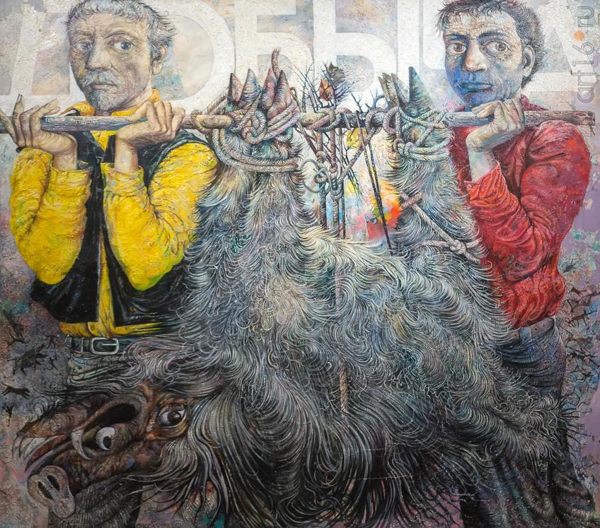 Яхнин Олег (Санкт-Петербург) ДОБЫЧА холст, масло 2006::Пятая межрегиональная академическая выставка-конкурс «Красные ворота /Против течения - 2018»