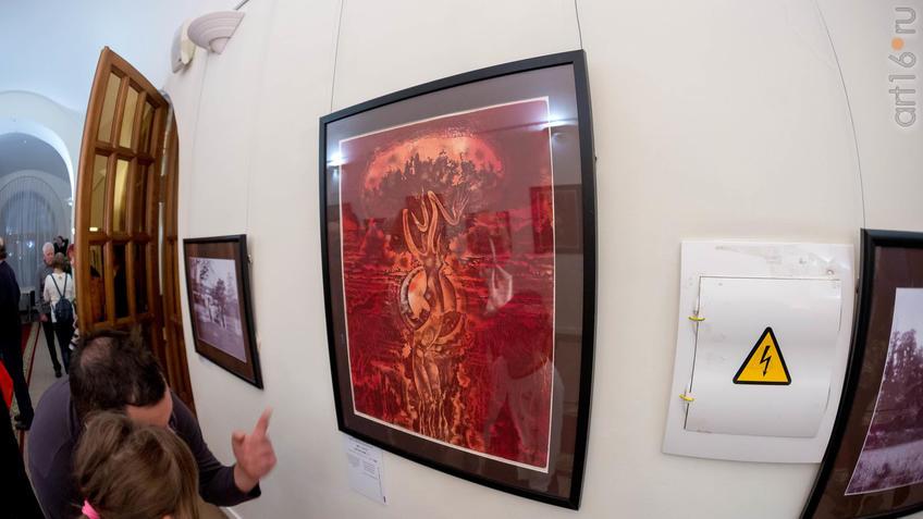 Дерево в огне. 1983::Надир Альмеев. Выставка «Колокола Хиросимы»